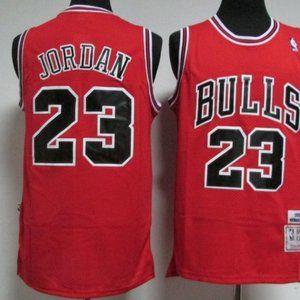 NWT Michael Jordan Red Classic Jersey SZ Various